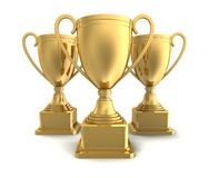 Gold award cup Royalty Free Stock Images