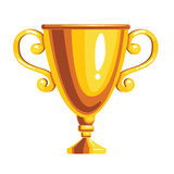 Gold award cup. Isolated on white background. Vector illustration Royalty Free Stock Photography
