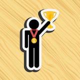 Gold award design Royalty Free Stock Image