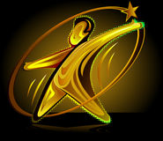 Gold award figure with star Royalty Free Stock Photo