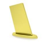 Gold award. Isolated render on white background Stock Photography