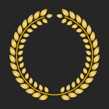 Gold award laurel wreath on dark background. Vector illustration Royalty Free Stock Image