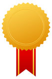 Gold award medal Royalty Free Stock Photo