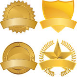 Gold Award Medals vector illustration