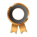Gold award ribbon Royalty Free Stock Photos