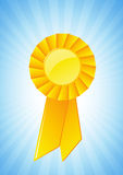 Gold award ribbon Royalty Free Stock Image