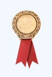 Gold award ribbons Royalty Free Stock Photos