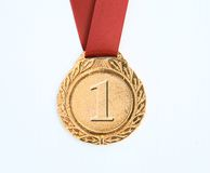 Gold award ribbons Stock Image