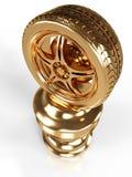 Gold Award Wheel. Gold wheel award isolated on white background Royalty Free Stock Photos