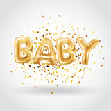 Gold baby balloons Stock Images