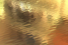 Gold back ground. Golden Surface reflecting the light, Gold Stock Image