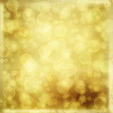Gold backdrop for greetings Stock Image