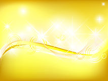 Gold background. Vector of shiny gold background Royalty Free Stock Photography