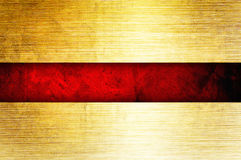 Gold background. With rich red ribbon stock illustration