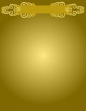 Gold Background. Gold scroll design over gold background Royalty Free Stock Image