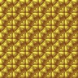 Gold background. Metallic tiled background with golden ornaments Stock Images