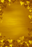 Gold background. Gold hearts on gold background Royalty Free Illustration