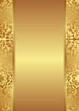 Gold background. With abstract floral ornaments Stock Image