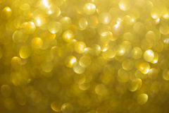 Gold background, abstract golden bokeh light celebration Royalty Free Stock Images