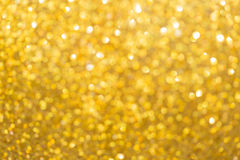 Gold background, abstract golden bokeh light happy new year Stock Photos