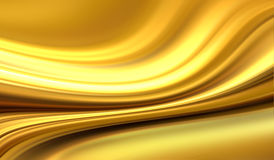 Gold background. Abstract gold background with smooth lines Stock Photo