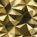 Gold background. Abstract triangle golden texture. Royalty Free Stock Image