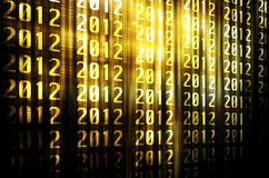 2012 with gold background. Annual backdrop background black Royalty Free Stock Photo