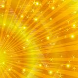 Gold background with beams Royalty Free Stock Photos
