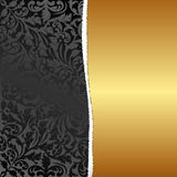 Gold background. Black and gold ragged background Stock Image