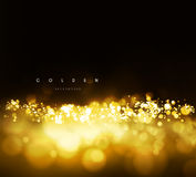 Gold background with bokeh Stock Photography