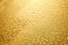 Gold background bubble texture. Stock Image