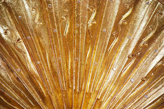Gold background. Continuous gold line surface background Stock Photo