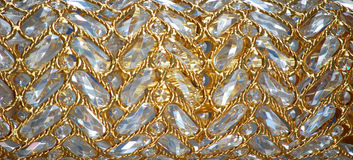 Gold background. Continuous gold silver curve surface background Royalty Free Stock Photos