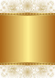 Gold background. Creamy and gold background with floral ornaments Royalty Free Stock Images