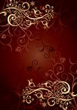 Gold background with curls Stock Photography