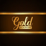 Gold background design Royalty Free Stock Photo