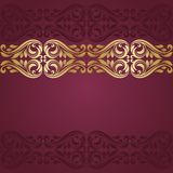 Gold background. Floral border. Abstract flower background Stock Image