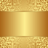 Gold background. With floral ornaments Royalty Free Stock Images