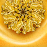 Gold background with flower Royalty Free Stock Photo