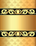 A gold background a frame with a Royalty Free Stock Photo