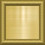Gold background in frame Stock Photography