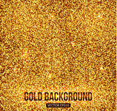 Gold background with glitters and sparkles. Gold Royalty Free Stock Photos