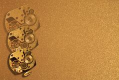 Gold background with hours. This is bright gold background with hours Stock Images