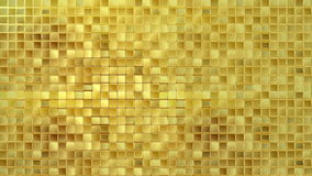 Gold background loop. Gold square tile background seamless loop vector illustration