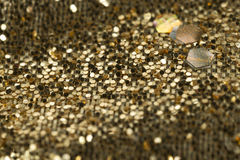 Gold Background Material Stock Photography
