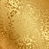 Gold background with oriental decoration Stock Photos