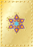 Gold background with oriental ornament Stock Photos
