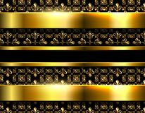 Gold background with ornaments Royalty Free Stock Photography