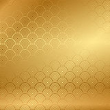 Gold background with pattern Stock Photo
