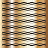 Gold background perforated sheet Royalty Free Stock Photography